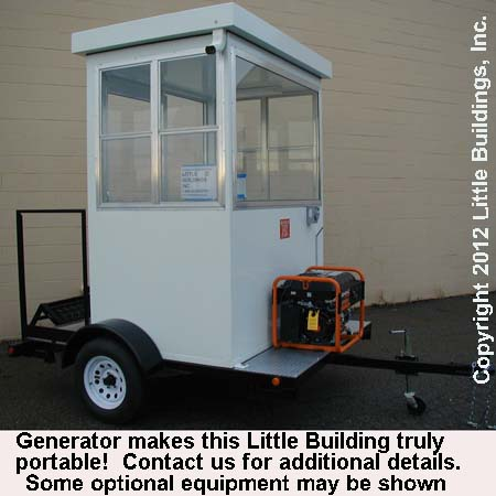 Guard Shack on Trailer with Generator