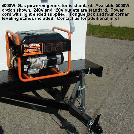 Guard Booth on Trailer with Generator