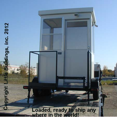Guard Shack on Trailer ships on flatbed truck