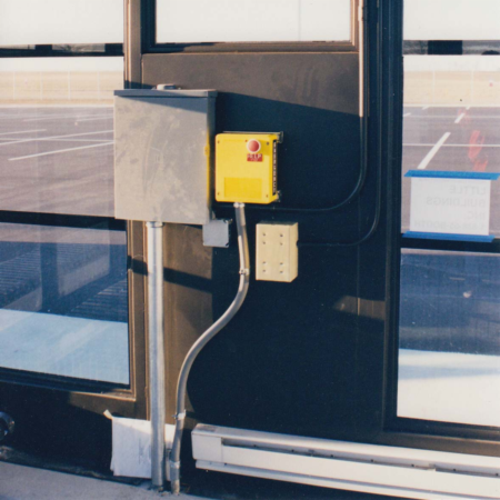 Built in panic button was added for client safety.  Locking circuit box keeps unauthorized people out.  Let Little Buildings help design your next building!