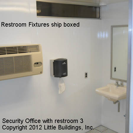 Security Office with Bathroom Interior view