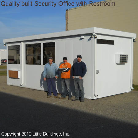 Security Shack with Bathroom