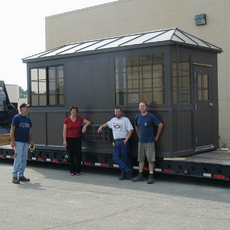 Shipped completely assembled.  Our crew is proud of each and every building we manufacture!