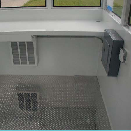BULLET RESISTANT GUARDHOUSE WITH OPTIONAL ALUMINUM TREADPLATE FLOOR