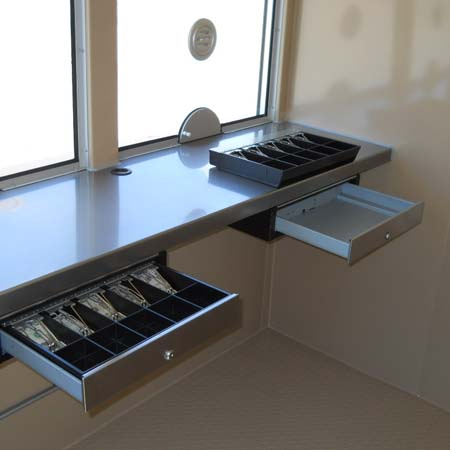 Ticket Booth Cash Drawer with removable tray