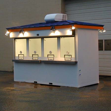 Ticket Booth Options like standing seam metal roof, outside lights are included