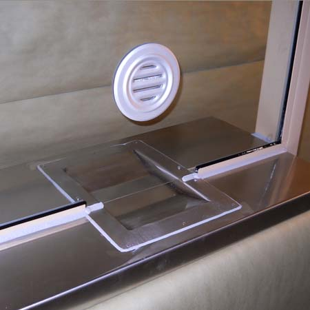 TICKET WINDOW with coin tray and speak tube