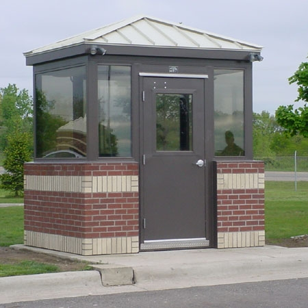 Guard Shack with Metal Roof