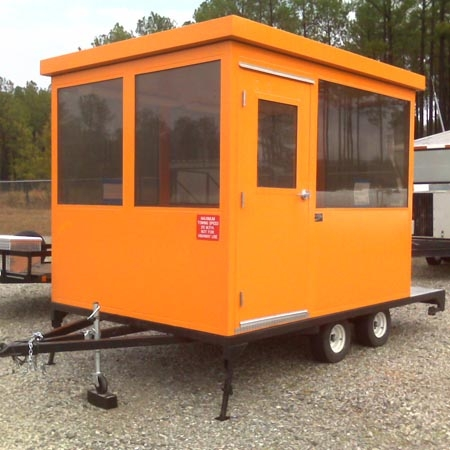 Security Shack Model #810 TRLR NAS 8'x10' trailer mounted