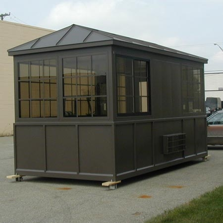Guard house from Little Buildings ship by truck and are totally assembled!