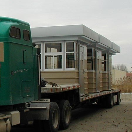 Guard House totally assembled and shipped by truck!