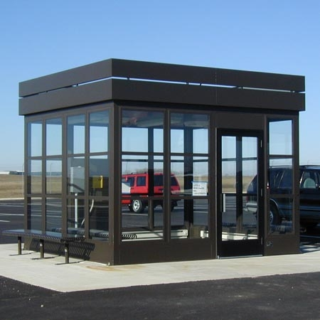 Bus Stop / Large shuttle stop with room for many passengers and their luggage.  Heated and air conditioned for year-round comfort.