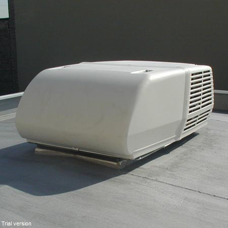 Roof A/C helps free up critical wall space
